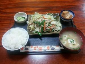 500円 野菜炒め定食