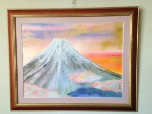 夕映の富士