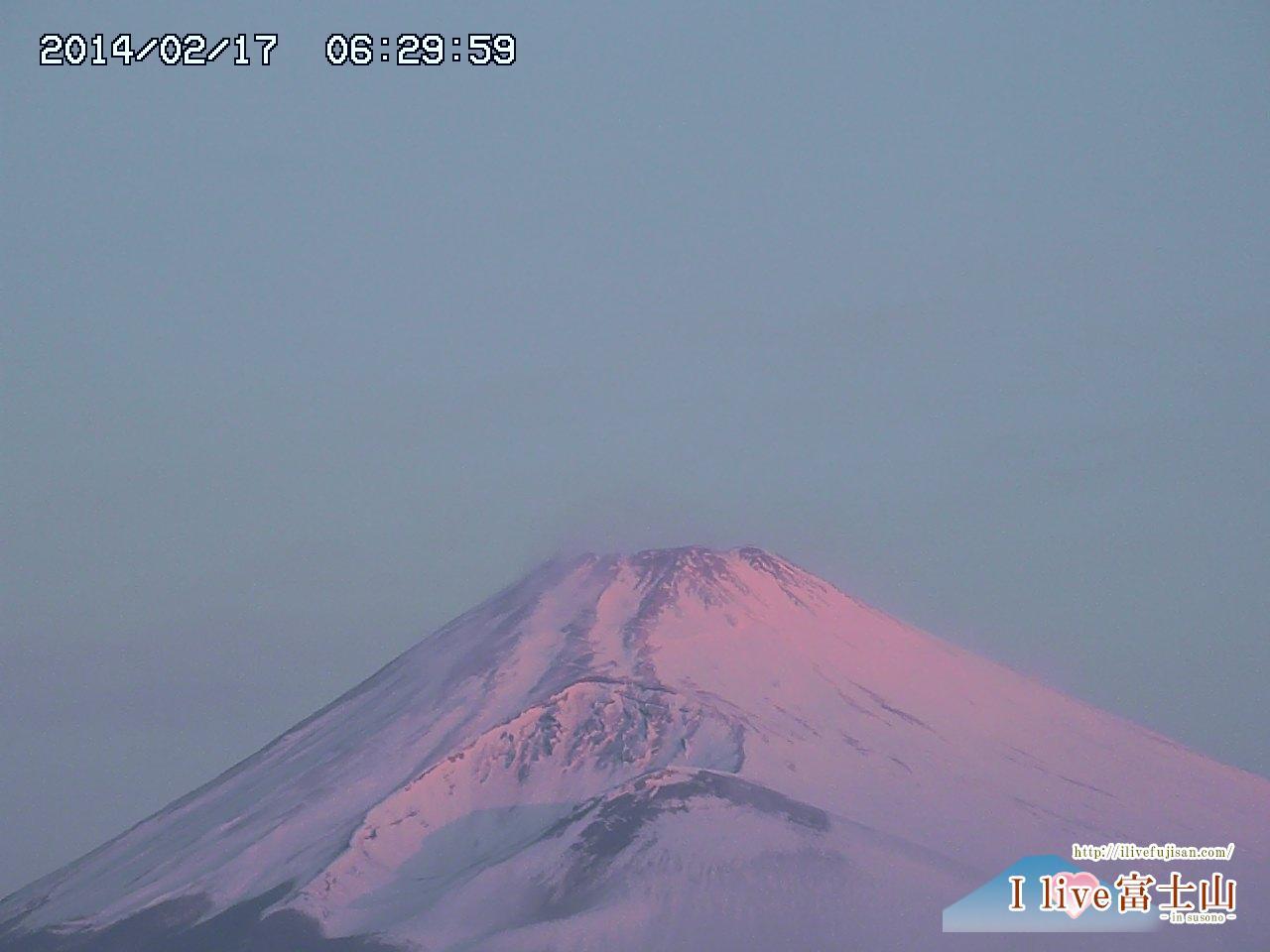 大雪後の富士山