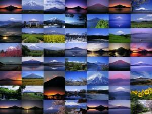 あいさんの写真仲間達~ 過去に写した富士山で作成