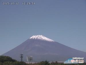 2015 富士山初冠雪